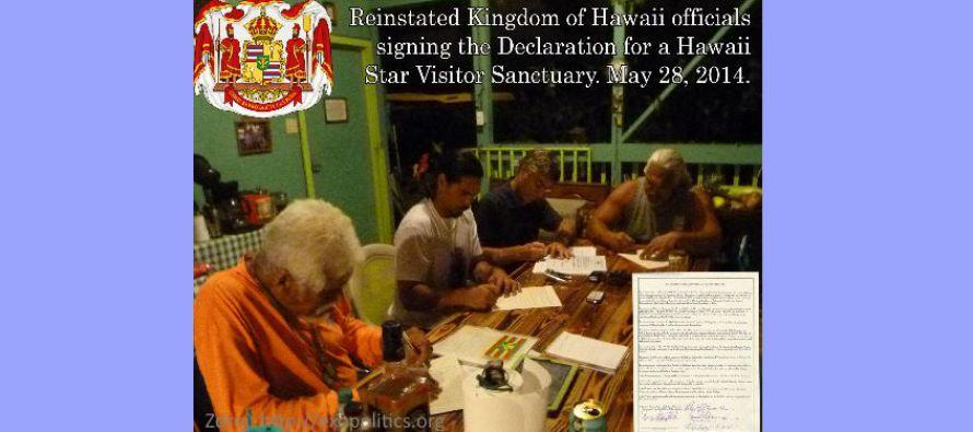 Obnovené království na Havaji vytvoří útočiště pro mimozemské návštěvníky