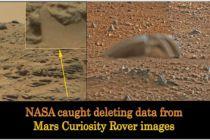 NASA přistižena při mazání dat z vozítka Curiosity na Marsu