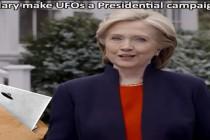 ZALOŽÍ HILLARY SVOU PREZIDENTSKOU KAMPAŇ NA SPISECH UFO?