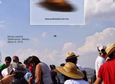 Mexiko, UFO nad pyramidou slunce