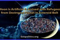 Měsíc je umělého původu a přišel s uprchlíky ze zničené planety z pásu asteroidů
