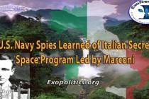 Agenti námořnictva USA zjistili existenci italského tajného vesmírného programu – vedl jej italský vynálezce Marconi