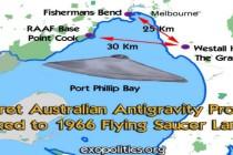 Austrálie – tajný antigravitační program má spojitost s přistáním talíře z roku 1966