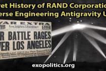 Tajná historie korporace RAND – reverzní inženýrství antigravitačních UFO – počátky vzniku tajných vesmírných programů v USA