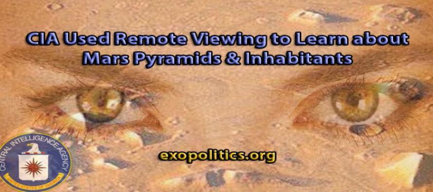 CIA používala dálkové nazírání, aby se dozvěděla o pyramidách na Marsu a jeho obyvatelích