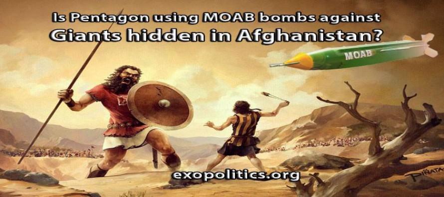 """Používá Pentagon """"matku všech bomb"""" (MOAB) proti obrům skrytým v Afghánistánu?"""