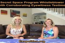 Žena informátora tajného vesmírného programu vystupuje s potvrzením svědecké výpovědi