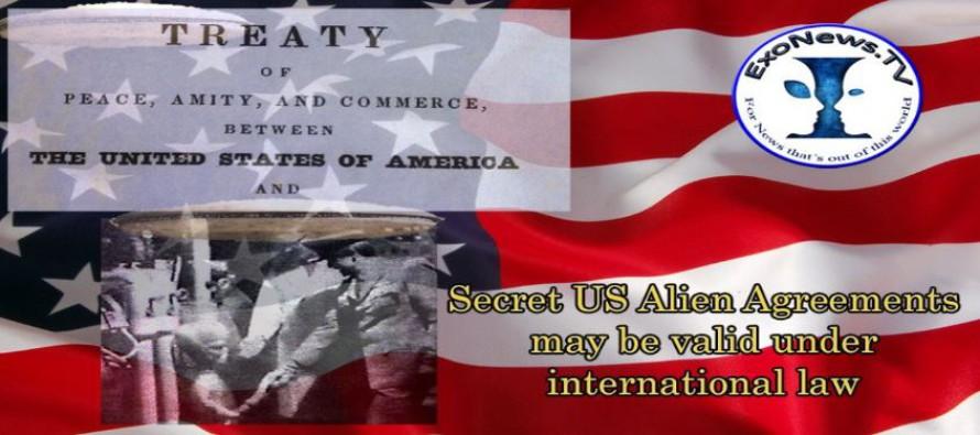 Tajné dohody USA s mimozemšťany mohou být platné podle mezinárodního práva