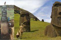 Hlavy na Velikonočním ostrově mají v zemi těla