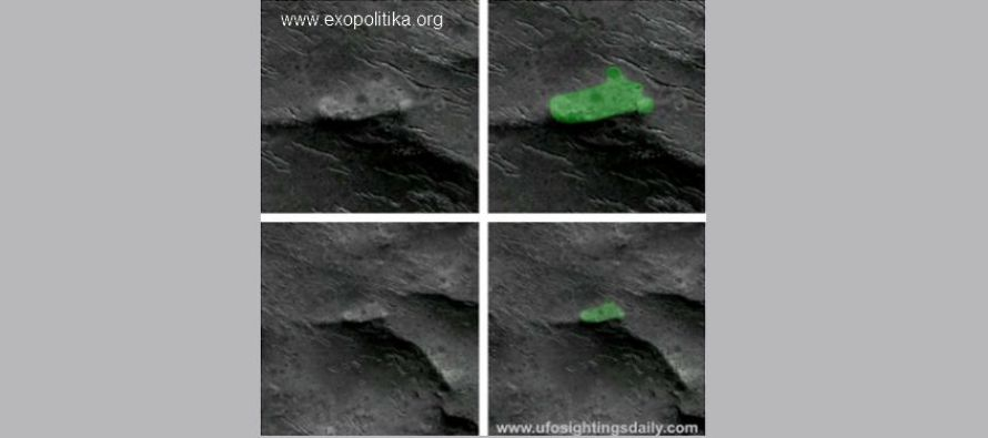 Je toto havarované UFO na Marsu?