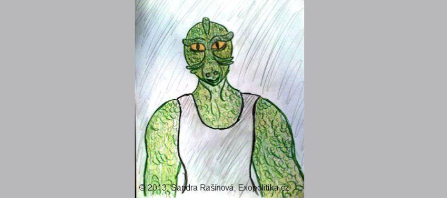Reptilián, kudlanka a neznámý…