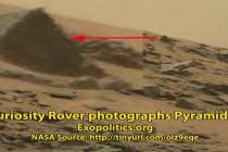 Vozítko NASA, Curiosity, vyfotilo na Marsu pyramidu