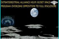 Mimozemská aliance pomáhá tajnému vesmírnému programu překonat existující odpor vůči úplnému Odhalení