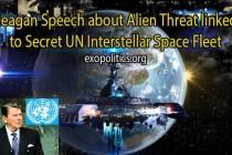 Reaganova řeč o mimozemské hrozbě atajná mezihvězdná flotila OSN