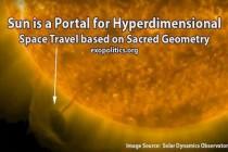 Slunce je portál pro hyperdimenzionální vesmírné cesty na základě posvátné geometrie