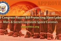 Kongresem USA prochází zákon chránící legalitu práce otroků v koloniích na Marsu