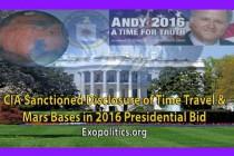 CIA schválila odhalení cestování časem a základen na Marsu při prezidentských volbách v roce 2016