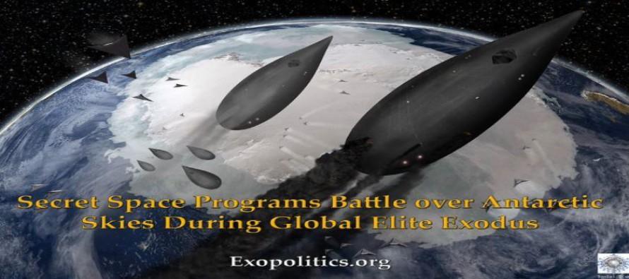 Boj tajných vesmírných programů nad oblohou Antarktidy za exodu globální elity