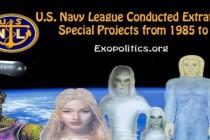 Námořní liga USA řídila mimozemské zvláštní projekty v letech 1985-1999