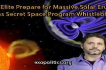 Globální elita se připravuje na masivní sluneční erupce, tvrdí informátor tajného vesmírného programu