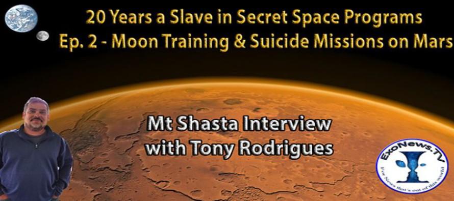 20 let otrokem v tajných vesmírných programech – trénink na Měsíci a sebevražedné mise na Marsu – svědek Rodrigues
