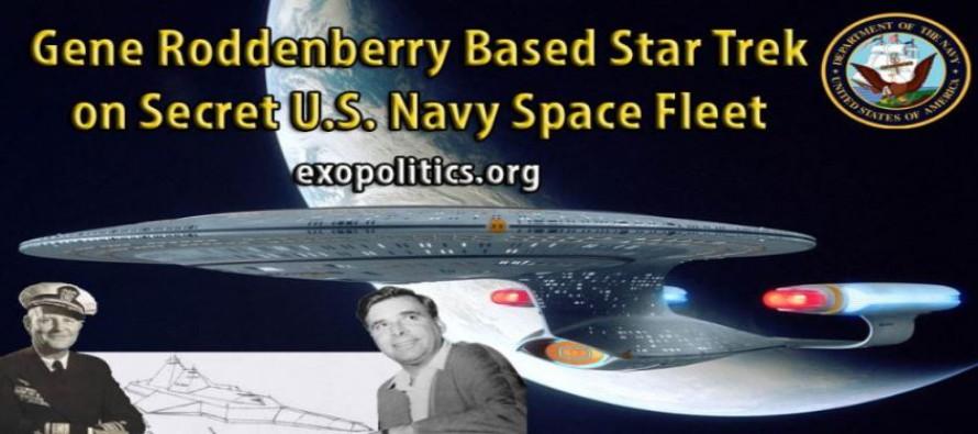 Star Trek Gene Roddenberryho založený na skutečné tajné vesmírné flotile námořnictva USA