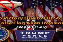 Vítězství Trumpa díky FBI, která zastavuje falešnou invazi mimozemšťanů