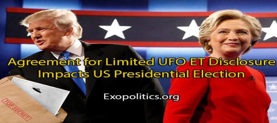 Dohoda o omezeném odhalení UFO a ET dopadá na prezidentské volby v USA
