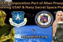 Společnost RAND součástí mimozemské proxy války zahrnující tajné vesmírné programy letectva a námořnictva USA