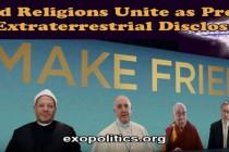 Sloučení světových náboženství jako předehra k mimozemskému odhalení