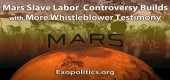 S dalším svědectvím informátorů narůstají ostré diskuse o práci otroků na Marsu – děti darované mimozemšťanům jako otroci
