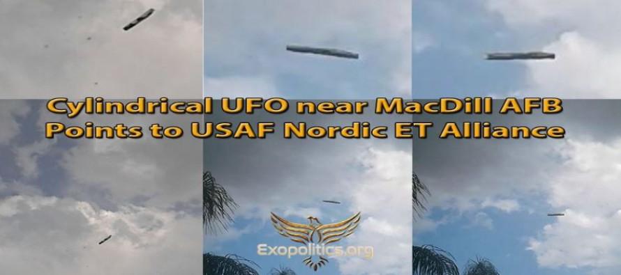 Válcové UFO blízko letecké základny MacDill poukazuje na Alianci Nordiků a letectva USA