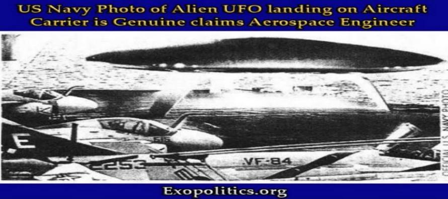 Fotografie námořnictva USA, zobrazující UFO, které přistálo na letadlové lodi, je opravdová, tvrdí letecký inženýr – nekalé informační hry s fotografiemi