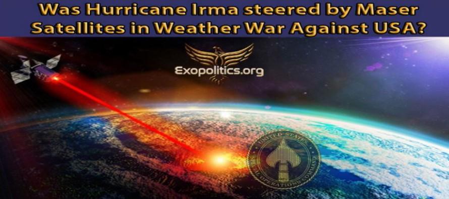 Byl hurikán Irma řízen maserovými satelity v povětrnostní válce proti USA? – zesilování mikrovln pomocí stimulované emise záření – wolframové boží hole