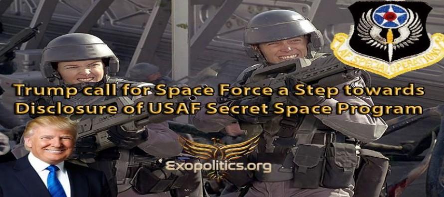 Trump chce zřídit Vesmírné jednotky – krok vpřed k odhalení Tajného vesmírného programu letectva USA