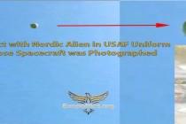Kontakt s mimozemšťanem Nordikem v uniformě letectva USA, fotografie jeho lodi