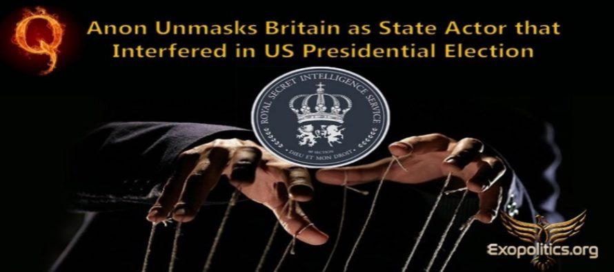 QAnon demaskuje Británii jako státního činitele, který se vměšoval do prezidentských voleb v USA