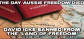 Stanovisko k tomu, že Davidu Icke byl zakázán vztup do Austrálie – Den, kdy australská svoboda zemřela