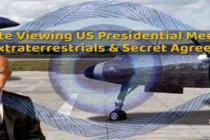 Dálkové nazírání setkání prezidentů USA s mimozemšťany. Uzavřené tajné dohody