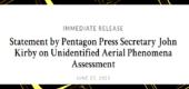Oficiální mlžení USA – červen 2021: náš útvar UAPTF se teprve začíná starat o plošný systematický monitoring UAP/UFO