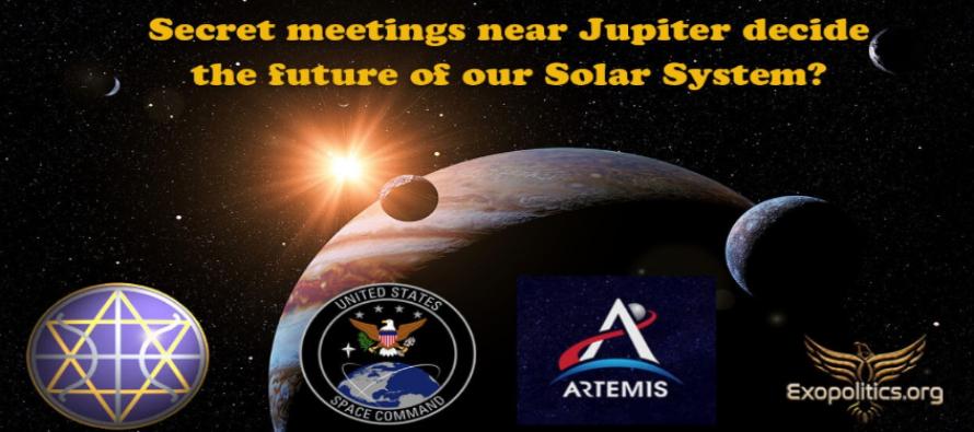 Rozhodnou tajné schůzky poblíž Jupitera o budoucnosti Sluneční soustavy?